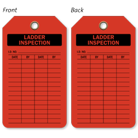 Ladder Inspection Plastic Tags