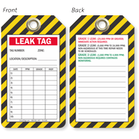 Leak Tag Write-On Number Location Description Tag