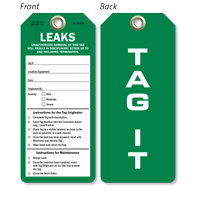 Leaks Tag It Color-Coded Leak Identification Tag