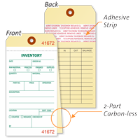 Heavy Manila Cardstock Inventory Tag Copy
