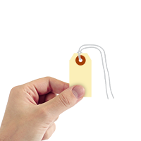 Manila 10-point Cardstock Tags (with looped strings)