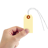 Manila 10-point Cardstock Tags (with pre-attached wires)