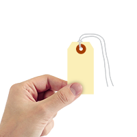 Manila 13-point Cardstock Tags (with looped strings)