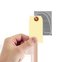 Blank Manila Cardstock Tag with Elastic