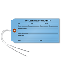 Miscellaneous Property Tag With Wire