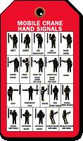 Mobile Crane Hand Signals Tag