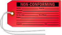 Non Conforming Inspection Tag