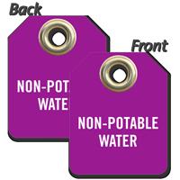 Non-Potable Water Mini Valve Tag