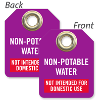 Non-Potable Water Not Intended For Domestic Use Tag