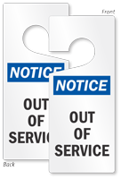 Notice Out Of Service Lockout Door Hanger