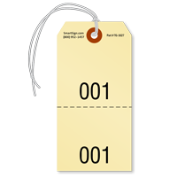 Sequentially Numbered Inspection Tag