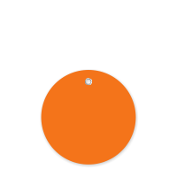 3 in. Circle Orange Plastic Tags
