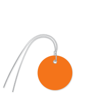 Plastic Circle Wired Tags, Orange