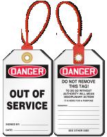 Out Of Service Loop n Lock Tie Tag