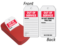 2-Sided Out Of Service Status Record QuickTags™ Dispenser