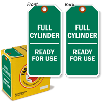 Full Cylinder Ready For Use Durable Plastic Tag-in-a-Box