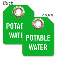 Potable Water Mini Valve Tag