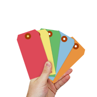 13-Pt Cardstock Shipping Tag Rainbow Mix