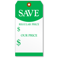 Sale Tag Regular And Our Price