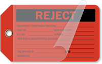 Reject Self-Laminating Tags