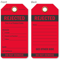 Rejected Do Not Remove QA Approved Tag