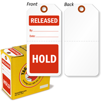 Hold / Released 2-Part Plastic Tag