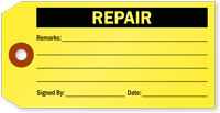 Repair Tag