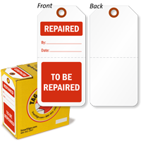 To Be Repaired / Repaired 2-Part Plastic Tag