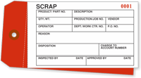 Inventory Tag - Colored Scrap (2 part)