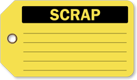 Scrap Vinyl Inspection Tag