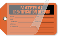 Material Identification Record Self-Laminating Tags