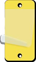 Yellow Blank Tag