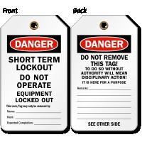 Short Term Lockout Tag