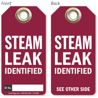 Steam Leak Identified Tag