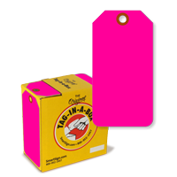Fluorescent Pink Tag with Fiber Patch
