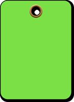 Fluorescent Green Vinyl Inspection Blank Tag