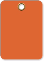 Fluorescent Orange Vinyl Inspection Blank Tag