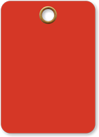 Red Vinyl Inspection Blank Tag