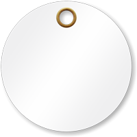 3 in. circle White Vinyl Tags