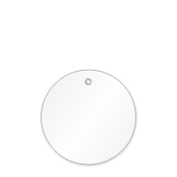 3 in. Circle White Plastic Tags