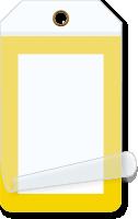 Yellow Border Blank Self-Laminating Tag