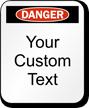 Custom Danger Padlock Label