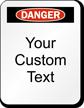 Customizable Danger Padlock Label