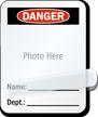 Photo Name Department Self-Laminating Padlock Label