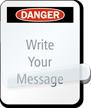 Self-Laminating Danger Message Padlock Label