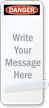 Write Your Message Self-Laminating Padlock Label