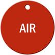 Air Stock Engraved Valve Circular Tag