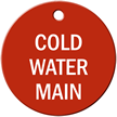 Cold Water Main Stock Engraved Valve Tag
