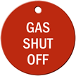 Gas Shut Off Stock Engraved Valve Tag
