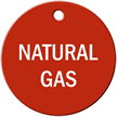 Natural Gas Stock Engraved Valve Circular Tag